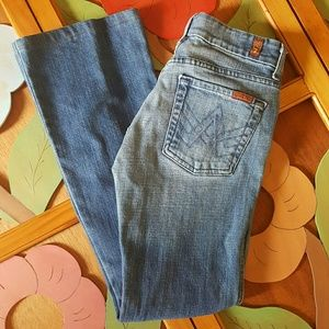 7 For All Mankind A Pocket Flared Jeans Size 27